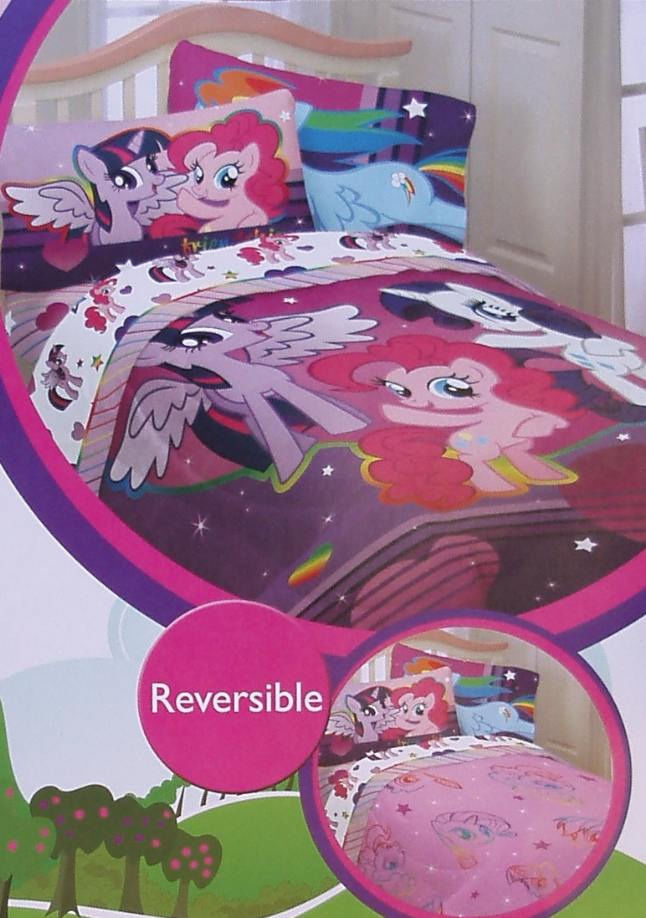 new my little pony friendship purple twin size comforter. Black Bedroom Furniture Sets. Home Design Ideas