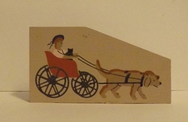 Cats Meow Accessory Lady in Buggy Being Pulled by Dogs 1994 - $5.99