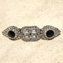 One of a Kind Vintage Rhinestone Hair Clip Barrette New Years Holiday - $70.00