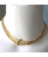 Vintage 70s Kim Craftsman Rhinestone Bar Chain Necklace 4 Color Choices ... - $22.00