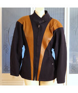 Vintage Thierry Mugler Couture Leather & Wool Fitted Jacket Avant Garde - $236.00