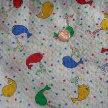 Vintage 60s Wamsutta Whales Juvenile Kids Fabri... - $40.00