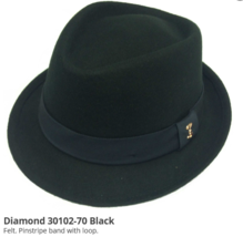 Who Ced Southhampton Wool Diamond Tip Fedora Rolled Brim Lined Burgundy ... - $52.00