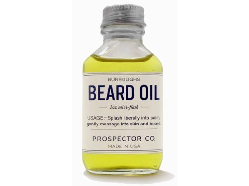 Prospector Co. Beard Oil 1oz Mini Flask by Burroughs