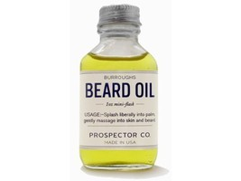 Prospector Co. Beard Oil 1oz Mini Flask by Burroughs image 1