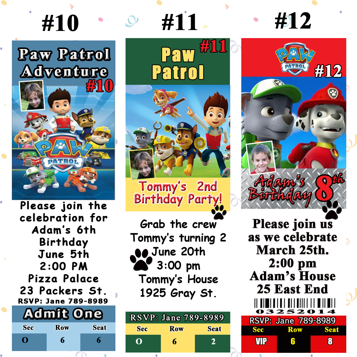 Paw Invite 10 12 Jpg Previous Patrol Birthday Invitations You Prnt Personalized Custom Made