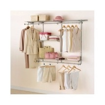 Rubbermaid Closet Organizer Shelving Customizable Storage 3-6 Foot Hangi... - $114.95