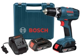 "Bosch Drill Driver Bundled 18 Volt Lithium Ion 3/8"" Cordless Power Shop ... - $198.98"