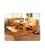 Breakfast Dining Furniture Table Bench Booth Nook Pine Wood Home Kitchen... - $298.95