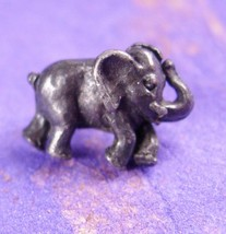 Good Luck ELEPHANT Tie Tack Men's novelty figural pewter silver Animal T... - $60.00