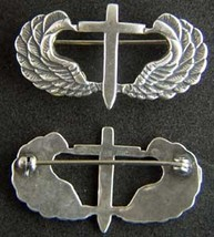 WWII Chaplin Paratrooper Badge Wings Sterling pin back    - $60.00