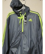 Adidas Ultimate Wind Jacket 1/2 Zip Windbreaker Hoodie Mens Gray S-2XL Nwt $55