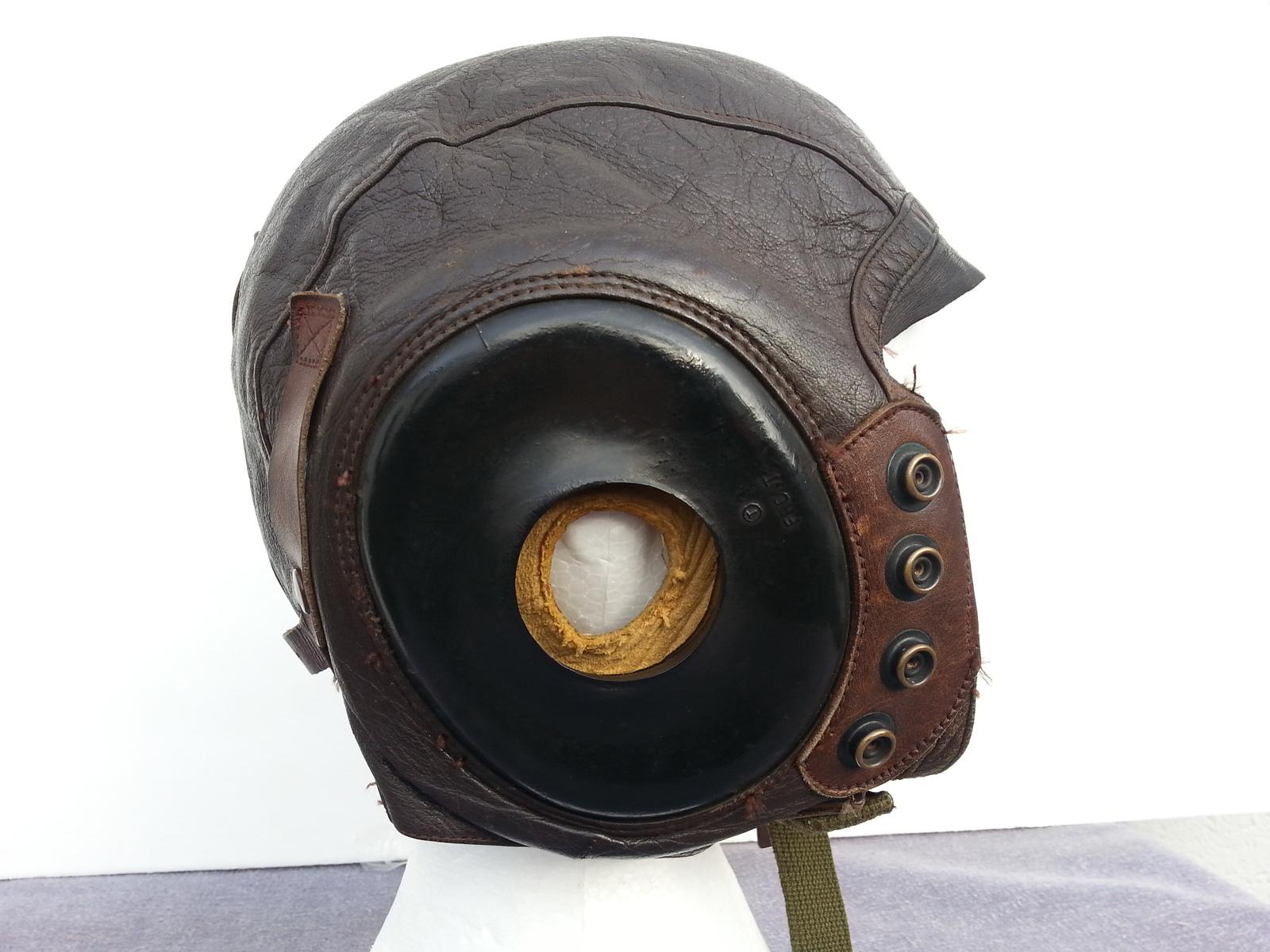 WW II Army Air Force Leather Flying Helmet - Intermediate Flying - Type A-11