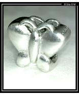 BUTTERFLY STERLING Silver Charm Bead - FREE SHIPPING - $25.00