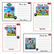 Paw Patrol Birthday Thank You Cards 10 ea Personalized Custom Made - $6.00