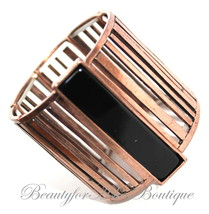 Beauty for Ashes® Black Mission Artsy Rustic Copper Retro Wide Stretch B... - $14.95
