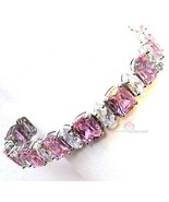 Beauty for Ashes Pink Tourmaline Ice CZ Bridesmaid Glamour Glam Tennis B... - $140.81