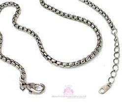 """Everyday 16-18"""" 3mm Simple Rhodium Box Chain Necklace - $6.95"""