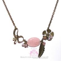 Beauty for Ashes® Leaf Flower Rustic Glam Garden Rose Quartz Elle Stone ... - $29.95