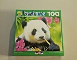 Puzzlebug Adorable Panda Bear Jigsaw Puzzle Zoo Life Eating Bambo 100 Pc... - $6.93