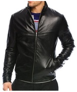 Arrow lamb quilted full zip leather jacket thumbtall