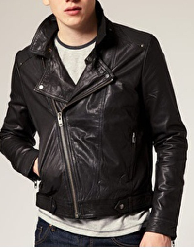 HANDMADE MENS BLACK COLOR LEATHER JACKET MEN MOTORCYCLE GENUINE LEATHER JACKET - Outerwear