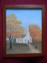 Jessie Bowers . Oil on Board Church Painting - $49.00
