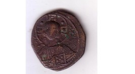 BYZANTINE BRONZE FOLLIS DEPICTING CHRIST 969-1081 AD - MAKES A GREAT XMA... - $95.00