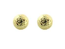 """14K Gold Earrings Diamond cut Ball Push Back  for all ages  """"SALE"""" - $82.81"""