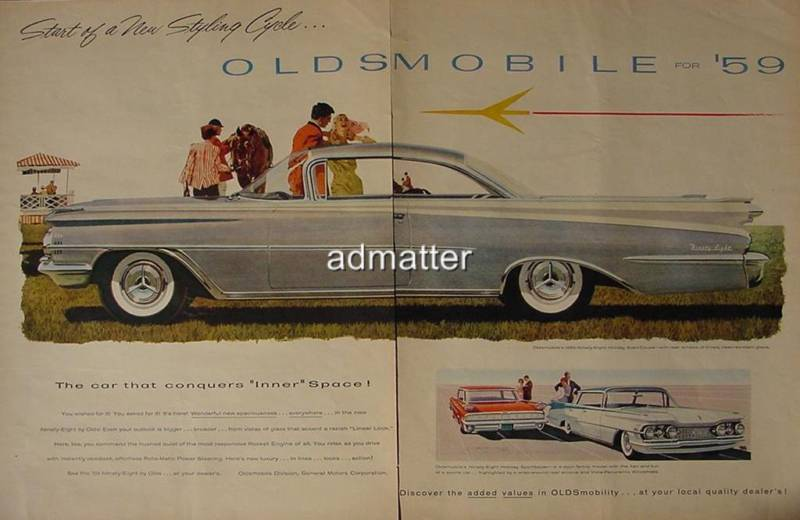 1958 Car Ad for 1959 Oldsmobile Ninety Eight