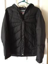 Columbia Women S Full Zip Duck Down Outdoor Black Jacket hood convert - $103.95