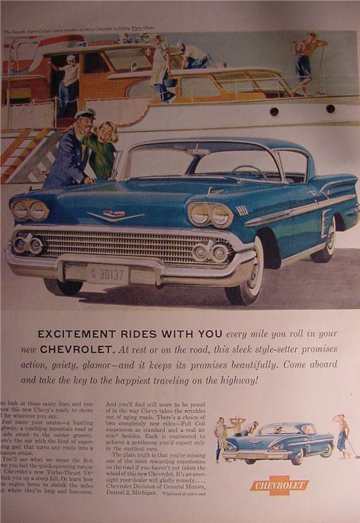 1958 Chevy Impala car Ad mint Chevrolet advertisement