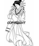 ASIAN GEISHA GIRL PLAIN KIMONO new mounted rubber stamp - $8.10