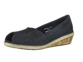 Grasshoppers Women's Garnet PEEP Toe Sneaker Black, Size 6 Med - $29.69