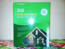 GE 300 String-A-Long Icicle Style Lights Christmas/Winter Clear White Wi... - $15.00