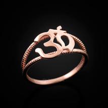 Dainty Rose Gold Om Symbol Yoga Ring - $79.99