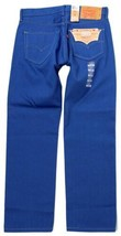 NEW LEVI'S 501 MEN'S ORIGINAL FIT STRAIGHT LEG JEANS BUTTON FLY BLUE 501-1435 image 2