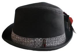 UGP Sotto Terra Prodotti Grems Uomo Nero e Bianco Ska Cappello Fedora Nwt image 2