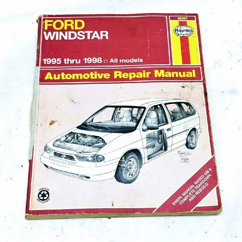 Haynes Automotive Repair Manual Book 36097 1995-1998 Ford Windstar All Models - $8.51