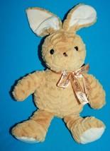 "Goffa Jesus Loves Me Easter Bunny Rabbit 13"" Tan Plush Stuffed No Carrot Bow - $17.39"