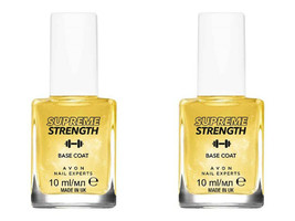 2 x AVON Nail Experts Supreme Strength Base Coat / 24k Gold Strength Base 2 x 10 - $14.99