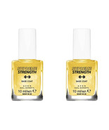 2 x AVON Nail Experts Supreme Strength Base Coat / 24k Gold Strength Bas... - $14.99
