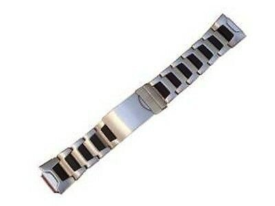 Primary image for Timex 16mm IronMan Triathlon Adjustable Black & SS Metal Buckle Watch Band Strap