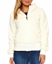 Bench UK Kava Cream Off-White Hoodie BLEA2461D Zip-Thru Faux Fur Jacket image 2