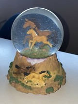 National Geographic Mustang Water Globe San Francisco Music Box Free as ... - $45.12
