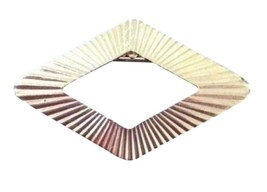 Vintage Costume Jewelry Brooch Pin Brushed Gold Colored Diamond Shape - $14.25