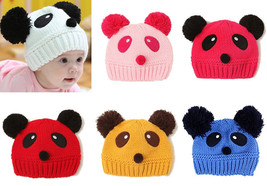 Kids Baby Girl Boy Infant Panda Hat Cap Beanie Hair Accessories Bonnet H... - $2.84