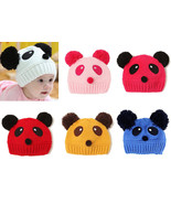 Kids Baby Girl Boy Infant Panda Hat Cap Beanie Hair Accessories Bonnet H... - $2.99