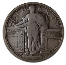1917 Type 1 STANDING LIBERTY QUARTER 25¢ Coin Lot# MZ 3164