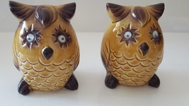 Vintage Ceramic OWL Salt & Pepper Shakers Animal Figurine Japan Made Goo... - $19.79